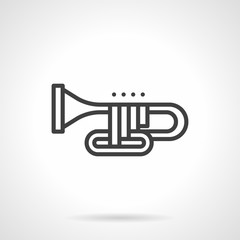 Orchestral trombone simple line vector icon