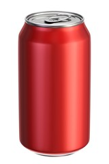 Red aluminium drink can 3D illustration