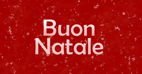 "Merry Christmas text in Italian ""Buon Natale"" on red background"