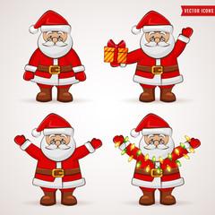 Santa Claus. Christmas vector collection.