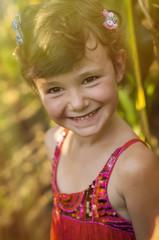Countryside girl in corn field