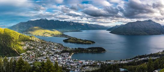 Panorama view of Queenstown, New Zealand