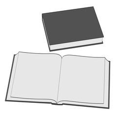 2d cartoon illustration of book