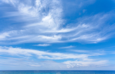 ciel au-dessus de l'horizon