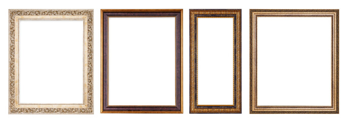 Simple vintage frame on a white background