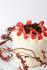 Festive Cake with Candy Cone Toppers