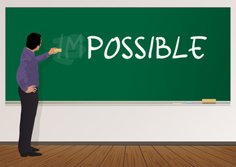IMPOSSIBLE - POSSIBLE - Solution - école