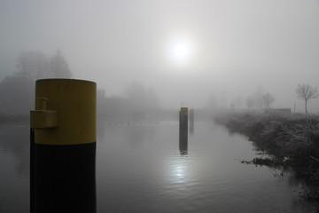 Elbe Lübeck Kanal, Nebel, Wasserlandschaft