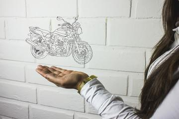hand phone with bike