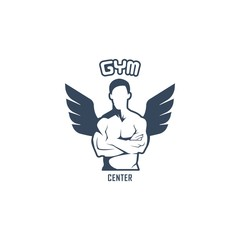 Body Fitness Vector Logo Design Template