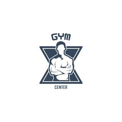 Gym Crossfit Vector Logo Design Template