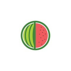 Watermelon Farm Vector Logo Design Element