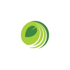 Green Farm Vector Logo Design Element
