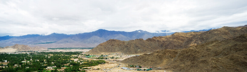 Shanti stupa in Leh Ladakh, Jammu and Kashmir, India