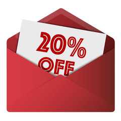 80% Off Envelope