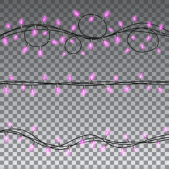 Christmas lights isolated design elements