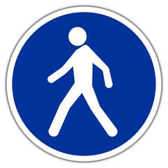 Panneau routier en France : Passage piéton obligatoire