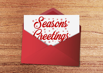 Seasons Greetings Envelope