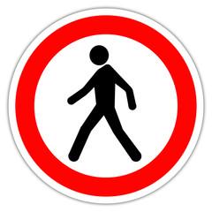 Panneau routier en France : interdit aux pietons