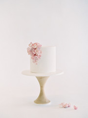 Wedding cake with flower decoration