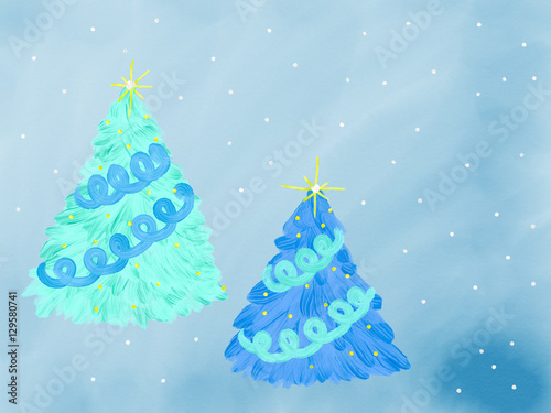 Led light crystal acrylic artificial christmas tree with small