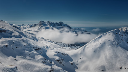 Snow capped mountains, Alps, Switzerland, Europe