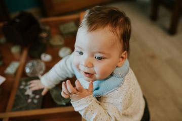 Cute Little Kid at home