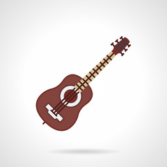 Flat color vector icon for guitar lessons