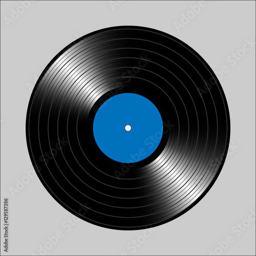 Vintage vinyl record  Vector illustration for flyer, banner