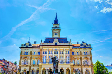 City Hall in the old part of Novi Sad, HDR Image.