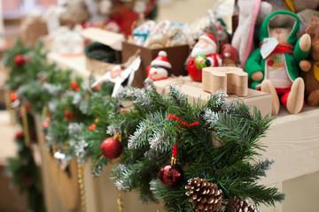 Christmas colorful decoration closeup image