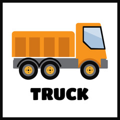 Tipper truck illustration in flat style