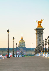 Photo sur Toile Europe Centrale Les Invalides building in Paris