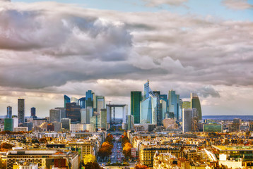 La Defense business district aerial view