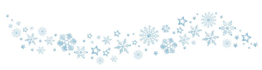 Świąteczny baner z płatkami śniegu, element dekoracyjny