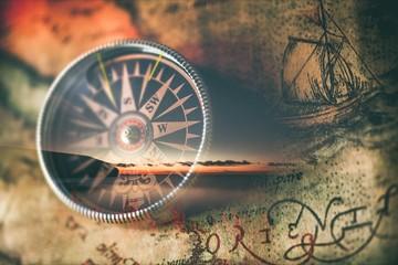 Compass. Wall mural