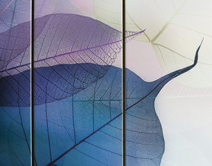 Spoed Foto op Canvas Texturen tile, transparent leaves
