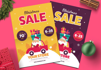 Cute Christmas Sale Flyer Layout