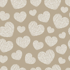 Abstract geometric pattern heart. Romantic Valentine's Day theme