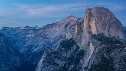 Half dome at late evening, taken from Glacier Point, Yosemite National Park, California, USA