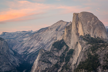 Sunset over the Half Dome, taken from Glacier Point, Yosemite National Park, California, USA