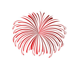 splash fireworks isolated icon vector illustration design