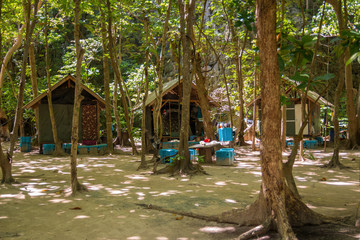 Village in the tropical forest