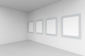 3D Rendering of Blank frame in the gallery