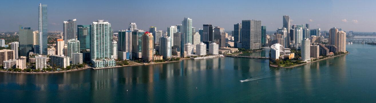 Downtown Miami Florida - Aerial Panotamic