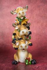 Reindeer Totem Pole