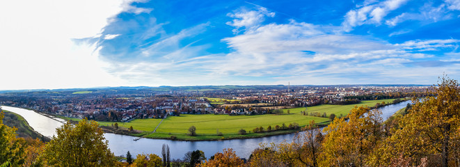 Panorama - Elbtal Dresden
