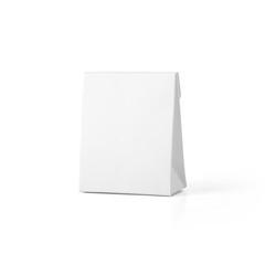 White blank jewelry paper box isolated on white background. Packaging template mockup collection. With clipping Path included.
