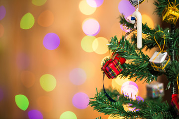 Christmas tree and gift boxes,on light background