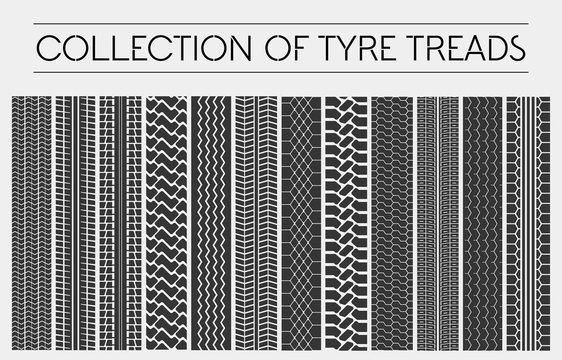 Wheel or tire, tyre treads, car tracks